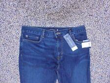 NWT Banana Republic Tapered Men's Rapid Movement Jeans Dark Wash 35 X 30
