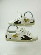 Saint Laurent Paris White Leather Leopard Print Trainers Sneakers Size EU 36 UK3