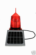 S30LF 4NM RED LED 32CD IP66 FLASHING SOLAR OBSTRUCTION WARNING SAFETY LIGHT