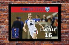 2019 Women's World Cup Soccer   Rose Lavelle Poster   13 x 19 inches