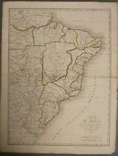 BRAZIL & NORTHERN ARGENTINA 1821 AMBROISE TARDIEU ANTIQUE COPPER  ENGRAVED MAP