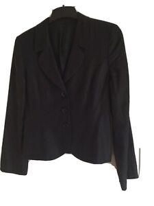 Hobbs Black Linen Jacket Size 8