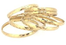 10k Solid Gold Semanario 7 day bangles Baby Children Adjustable Size