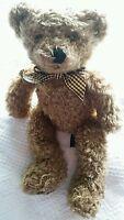 "Vintage Russ Teddy Bear Plush Berrie & Co Wembly Brown Fur Shaggy Stuffed 14"""