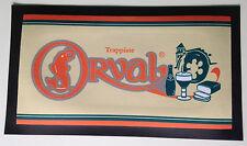 TAPIS de COMPTOIR BAR BIERE ORVAL TRAPPISTE 45 x 25 cm