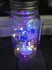 Solar Jar Light 20 LED String Lights Garden Patio Party Kilner Mason UK