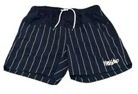 Mens size M  Navy blue striped MOSSIMO  swim shorts boardies  board shorts NEW