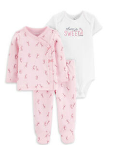 child of mine By Carter's  baby girls size preemie giraffe set