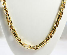 "148 gram 14k Solid Gold Yellow Figarope Milano Men's Chain Necklace 30"" 8 mm"