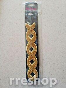 PINK PEWTER MIS-258-6 - Gold Rhinestone Detachable Stretch Band