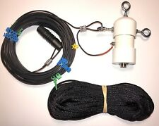 133' QRP ANTENNA WITH 100 WATT RATED 9:1 BALUN. 100' BLACK 100% DUPONT POLY ROPE