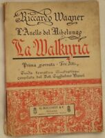 RICHARD WAGNER LA WALKYRIA LIBRETTO D'OPERA BOOKLET 1909 TEATRO OPERA THEATRE