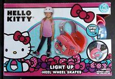 HELLO KITTY - LIGHT-UP HEEL WHEEL SKATES - BY PLAYWHEELS - NIB
