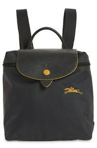 Longchamp Le Pliage Nylon Club Mini Foldable Backpack ~NEW~ Gunmetal