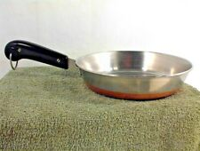 "REVERE WARE 8"" SKILLET FRY PAN BLACK HANDLE NO LID COPPER BOTTOM 2272609 COOKING"