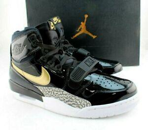 JORDAN Legacy 312 Size 12 Black / Metallic Gold Fashion Men Sneakers RETAIL $150