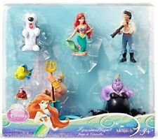 Disney Princess Ariel Mermaid Figure Set Flounder Ursula Max Eric Sebastian