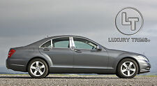 Mercedes S Class W221 Stainless Chrome Pillar Posts by Luxury Trims 2007-2013 6p