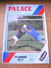 27/08/1984 Crystal Palace v Northampton Town [Football League Cup] (Team Changes