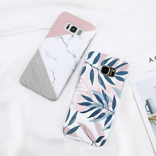 Marble Leaf Pattern Hard Shockproof Slim Case Cover For Samsung S8 S9 Plus S7 S6