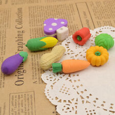 Funny Food Vegetable Rubber Eraser Kids Student Stationery Cute Carrot Peanut1PC