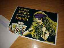 Tarot Reading personalised Happy Birthday Art Card Witch Fortune Telling Wiccan