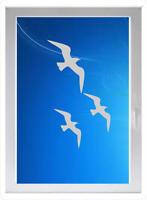 schöner Vogel - Sichtschutzfolie - Fensterfolie - Glasdekorfolie
