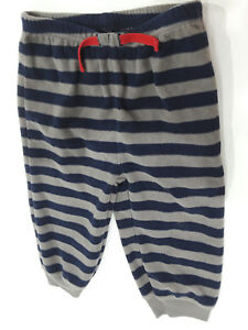 Child of Mine Carter's navy and gray striped sweatpants sz 18 mos