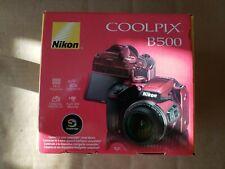 NEW! Nikon COOLPIX B500 Digital Camera 16MP 40x Optical Zoom WiFi Bluetooth Red