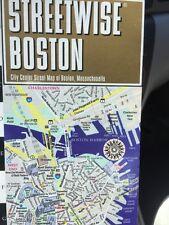 NEW! Streetwise Boston, Massachusetts Laminated Folding City Center Street Map