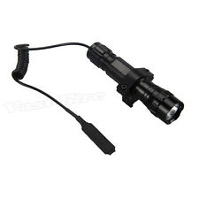 501B Tactical 3000LM XM-T6 LED Flashlight Torch Pressure Switch Mount Light Gun