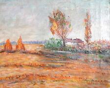 1970 European oil painting impressionist landscape signed