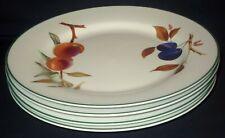 FOUR Royal Worcester EVESHAM VALE Dinner Plates