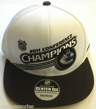 NHL Vancouver Canucks Reebok Stanley Cup 2011 Champions Snap Back Cap Hat NEW!