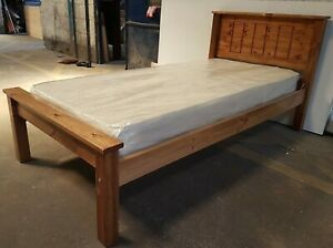 single solid pine bed frame comes with extra strong bed slats