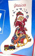 Dimensions Santa Bear Teddy Christmas Gifts Toy Sack Crewel Stocking Kit 8058 E
