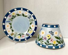 Yankee Candle Large Jar Candle Shade & Plate Daisy Butterfly's Spring Blue