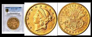 1870-S $20 PCGS AU 58 Double Eagle