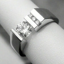 Engagement & Wedding Ring For Men's Special 14K White Gold 1.86 Ct Round Diamond