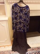 womens formal hand beaded silk dress long sleeve gown plus size xxl xl 16 18 20