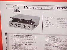 1968 MUNTZ AUDIO CAR 4-TRACK STEREO TAPE PLAYER SERVICE MANUAL MODELS A/C-90 100