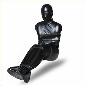 Bondage Sack Fesselsack Bodybag Schlafsack Zwangsjacke Fetisch Leder schwarz