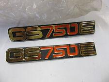 Suzuki GS750E  nos side cover badge set 78-79