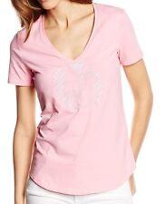 Armani Jeans embelished AJ logo women's pink V-neck t-shirt size S*
