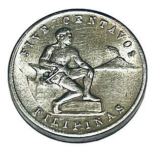1944 Coin 5 Centavos Philippines Copper Nickel Zinc KM# 180A