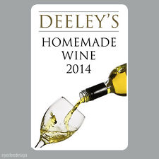 8 x Personalised Homemade Wine Making Bottle Labels Stickers home brew -N335