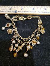 Tone With Dangle Accesories Napier 2 Chain Bracelet Gold
