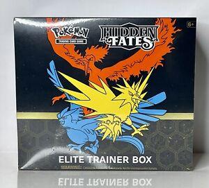 🔥Pokémon Hidden Fates Elite Trainer Box (x1) Mint Condition! Ships Fast!🔥