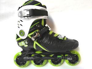 Fila NRK NOS Slalom Freeskate Streetskate Inliner - Black Green Gr. 43,5