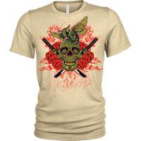 The hornet T-Shirt killer skull twin swords Unisex Mens